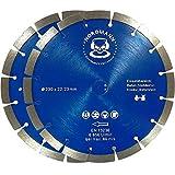 2x'NORDMANN POWER-BLOCK' Ø 230 mm - Die Universal-Scheibe - Für Granit, Beton, armierter Beton, Kalksandstein, Ziegel, Waschbeton, Mauerwerk etc,