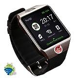 MYJ Smart Uhr Smart Watch Kamera Uhr,Silber,A