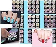 Nail Art etiqueta Plantillas-Clavo de plantillas 9hojas 313-321/pantalla/Pegatinas para aerógrafo, esmalte de uñas, Glitter