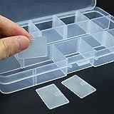 Ndier 15 Grids Einstellbare Organizer Aufbewahrungsbox Container Case für Schmuck Bead