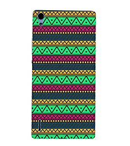 PrintVisa Designer Back Case Cover for Huawei Ascend P7 (Girly Pattern Tribal Floral Fabric Culture Rajastan Andhra)