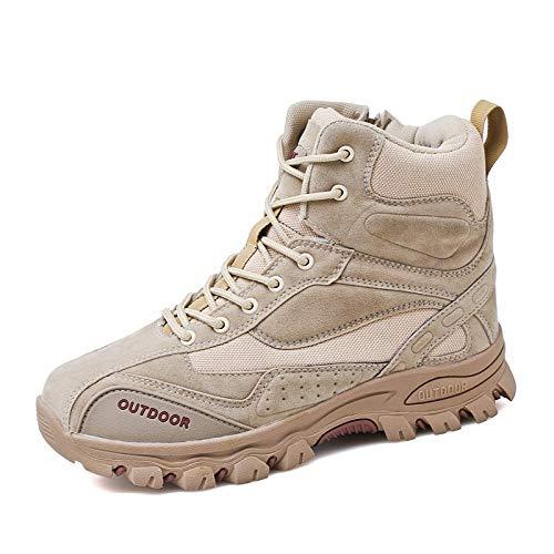 Scarpe da Trekking da Uomo per Lo Sport Scarpe da Trekking Antiscivolo per Esterno Stivali da Trekking per Esterno Impermeabili Color Crema 43