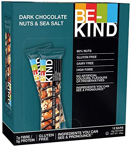 BE KIND Dark Chocolate Nuts & Sea Salt, 12er Pack (12 Riegel à 40 g)