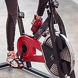 TecTake Indoor Cycling Fitness Bike Ergometer Fahrrad Rad Heimtrainer mit Computer - 3