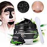 LuckyFine Blackhead Remover,tearing Style Deep Cleansing Purifying Peel Off the BlackHead, Mascarilla Exfoliante Limpiadora contra Puntos Negros y Acné,black Mud Face Mask