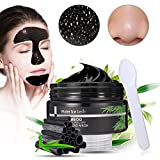 Black Mask, Luckyfine Mascarilla Exfoliante Para Puntos Negros Nariz, Máscara Negra Peel Off Quita Espinillas, Limpieza Facial Profunda Poros 100g