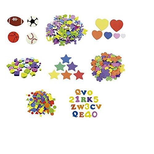 Smart 68001100 - Pack de 170 formas letras y números adhesivos, multicolor