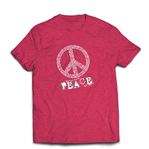 st Du Stück von Mir - Frieden Slogan, 60er 70er Hippie - Hippie Festivals, Hipster Swag (Medium Heidekraut Rot Mehrfarben) (Gute Originelle Ideen Für Halloween Kostüme)
