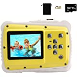 Kids Digital Camera, YTAT Childrens Underwater Action Camera, Diving Camera Dust Proof Camcorder With 16G SD Card 5M CMOS For Children Boys Girls Gift Toys (yellow)