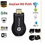 Anycast wifi HDMI Dongle Wireless Display For Iphone Ipad Windows Pc Android data cable New Anycast M2 Plus is with more Ram(256 Mb) for best performance and with new software to use without any App. Latest product.Best Quality,Satisfaction guarantee...