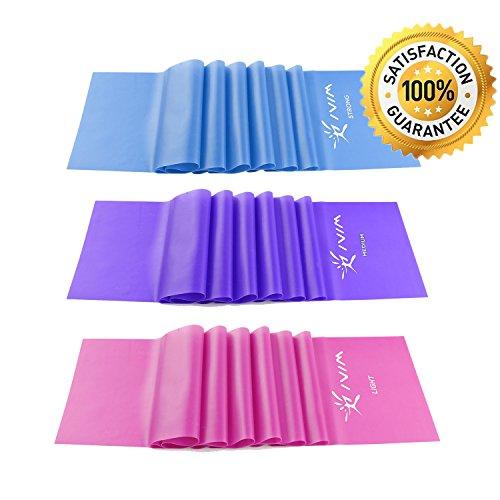 Fitnessbänder 3er Set 120 x 15 cm, Widerstandsbänder für Yoga, Pilates, Reha-Sport Physio-Gymnastik, Geschenk Für Männer Frauen