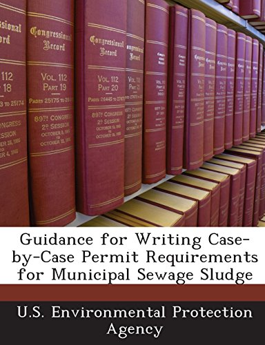 Guidance for Writing Case-By-Case Permit Requirements for Municipal Sewage Sludge
