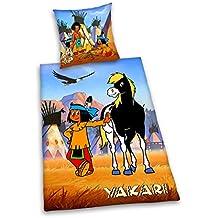 Herding 444517050 Bettwäsche Yakari, Kopfkissenbezug: 80 x 80 cm + Bettbezug: 135 x 200 cm, 100 % Baumwolle, Renforce