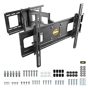 RICOO Fernseher TV Wand-Halterung, Schwenkbar Neigbar Universal (R06) Fernsehhalterung für 40-75 Zoll (bis 95-Kg, Max…