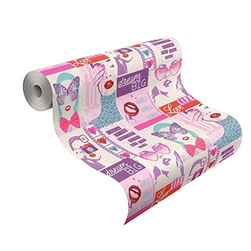 Rasch Tapeten 209600 Kollektion Kids & Teens II, Lila, Pink