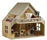 Rülke Holzspielzeug 23161 Haus mit Balkon natur