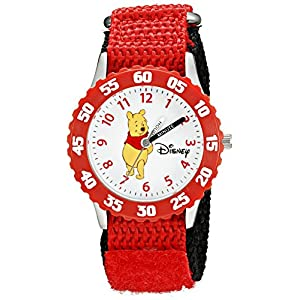 Disney by Ewatchfactory Kinder-Armbanduhr Stainless Steel Time Teacher Lernuhr nylon rot W000099