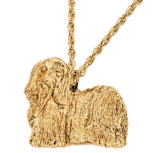 Havaneser Hergestellt in U.K. Kunstvolle Hunde- Anhänger Sammlung (22 Karat Vergoldung / gold plattiert) (Havaneser Hund Spielzeug)