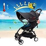 Cochecito Protección Solar Universal - Baby Capota para cochecito y cochecito deportivo, anti UV, universal Mosquitera con protección solar para niños