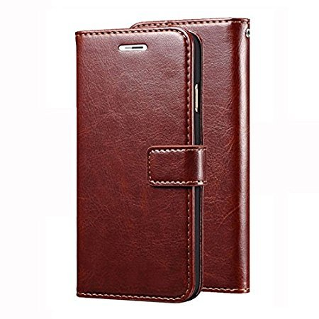low priced 917ed 852ff Mobi Case Gionee S6s Premium Pu Leather Flip Wallet Stand Cover Inner TPU  Back for Gionee S6s - Brown