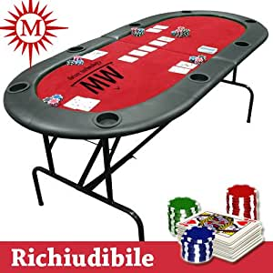 Tavolo poker professionale texas hold 39 em richiudibile - Tavolo poker texas hold em ...