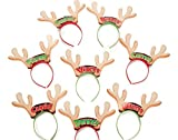 SALE - 8 Christmas Santa's Reindeer Headbands for Parties