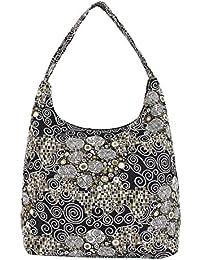 Bolso tapiz de hombro Signare de moda para mujer asa superior bolso hobo Klimt (El beso)