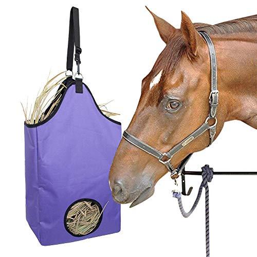 Ksruee Heusack Heutasche Heunetz Heu Gras Futter Tasche Große Kapazität Durable Tuch Heusack Für Pferde, Verbessert Verdauung Der Tiere