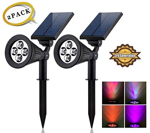 Super Bright Wasserdicht Outdoor Solar Strahler LED/Populär und mehr erlebt Modell/A Best Buy für Jahren von Zweck/kostengünstigste für zusätzliche Sicherheit Landschaft Rasen Garten Patio Pathways R-2PCS