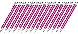 Creativgravur 15 Metall-Kugelschreiber-Set Magic, ein Gratis Brieföffner, Blaue Großraummine (Neon Pink)