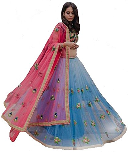 HMP Fashion Women's Semi Stitched Heavy Lehenga choli With Dupatta - Dress material Free Size Festival Special Sale 50% OFF