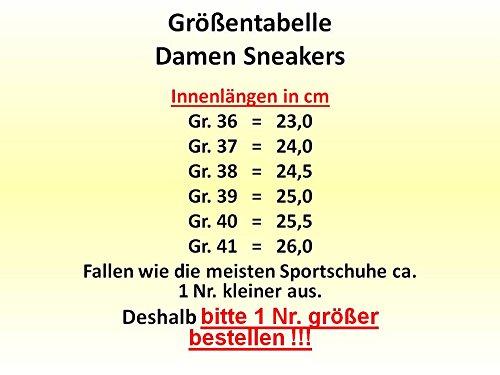 gibra , Baskets pour femme schwarz/neongelb