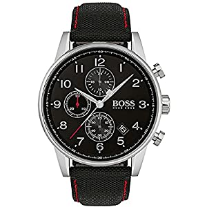 Hugo BOSS Reloj Análogo clásico para Hombre de Cuarzo con Correa en Tela
