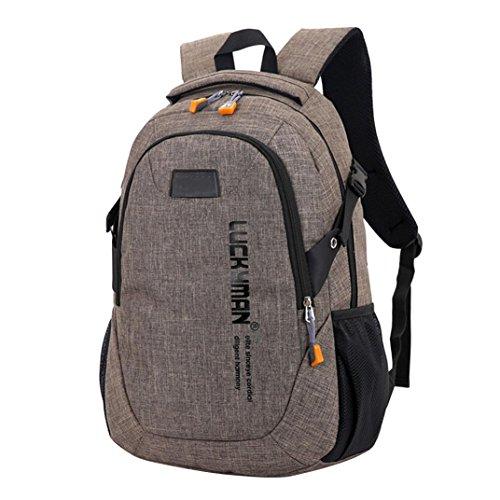 OdeJoy Segeltuch Reise Rucksäcke Laptop Taschen Designer Schüler Tasche Kosmetik Tasche BrieftascheMultifunktional TascheMini Beiläufig Täglich Rucksack Sport Tasche Nylon Tasche (1 PC, Braun)