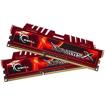 G.Skill RipjawsX F3-12800CL9D-8GBXL - Memoria RAM de 8 GB, DDR3 para Intel y AMD (PC12800, 1600 MHz) - 2 x 4 GB