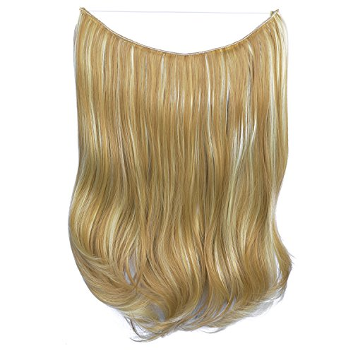 erung, 51 cm, , H07 - 16H613 Golden Blonde & Bleach Blonde (Schädel-geld-clip)