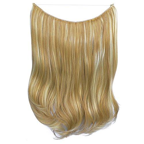 erung, 51 cm, , H07 - 16H613 Golden Blonde & Bleach Blonde (Schädel-geld-clip)