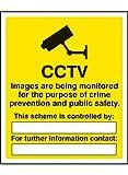 Caledonia signos 11713K CCTV imágenes being Monitored para el propósito de delito Sign, plástico rígido, K: 400mm x 300mm