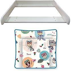 niños Polini cambiador y la almohadilla de Malm búho tocador blanco, 3871