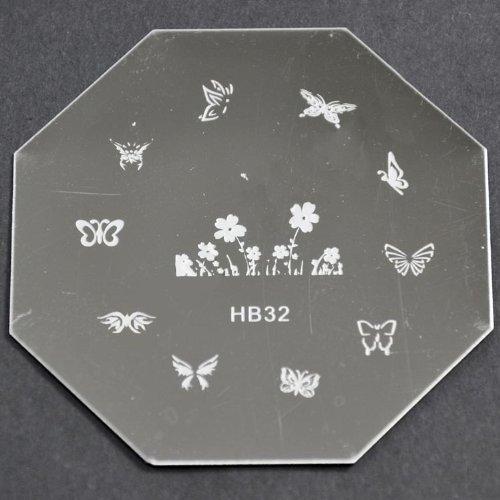 Nail Art emboutissage des tôles - HB32 CODE : HB32-plaque