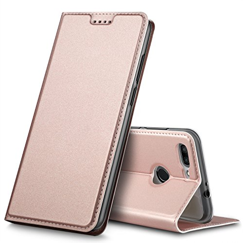 BoseWek ZTE Blade V9 Hülle, Flip Case mit Standfunktion Schutzhülle Tasche [Magnetverschluss] Hüllen Handyhülle für ZTE Blade V9 Smartphone (Rosegold)
