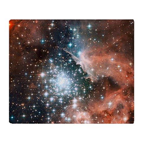 CafePress Überwurfdecke mit Galaxie und Nebel 50x60 weiß