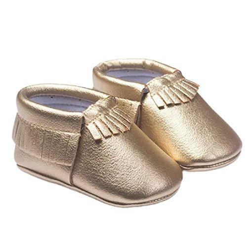 Chaussures Bébé Clode® Bébé Cuir Fille Chaussures Glands Chaussures Enfant (12~ 18 mois, vert) or