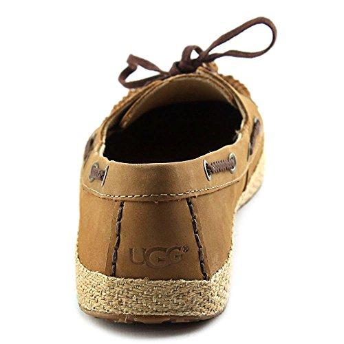 Ugg Australia Tylin Femmes Cuir Chaussure de Bateau Noisette