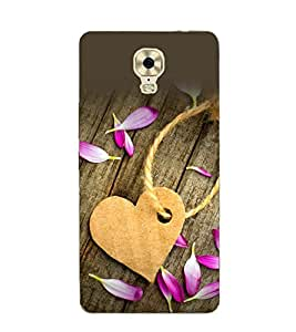 A2ZXSERIES Wooden Heart Flower Back Case Cover for GIONEE M6 PLUS