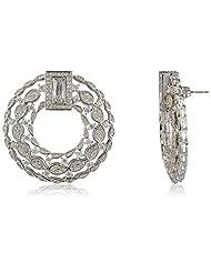 Shaze Clip-On Earrings For Women (Silver) (5717-113)