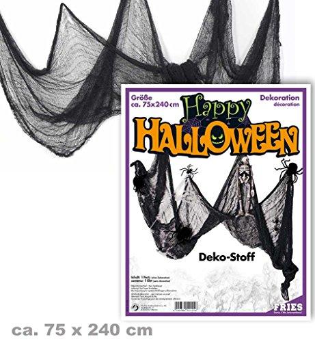 schwarz ca. 75 x 240 cm Halloween Party Dekoration Deko Accessoire *NEU bei Pibivibi© (Einfache Halloween-raum-dekoration)