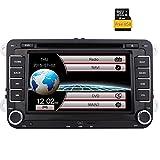 Eincar WinCE 6.0 Car Stereo 7-Zoll-Digital-Bildschirm-Head Unit mit DVD-Player und Einbau-Canbus für VW Golf Jetta Passat Polo Sitz Skoda Unterstützung GPS Navigation, Radio FM AM, Bluetooth, Lenkrad-Steuerung, USB SD + 8GB Karte Karte