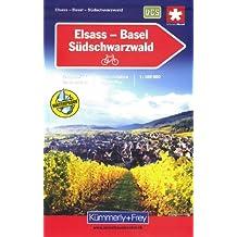 Carte routière et touristique : Alsace - Bâle - Forêt noire (cyclo tourisme)