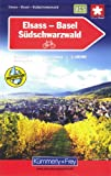Alsace / Basel / Southern Black Forest k&f cycle map
